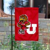 University of Utah Swoop Mascot Garden Flag