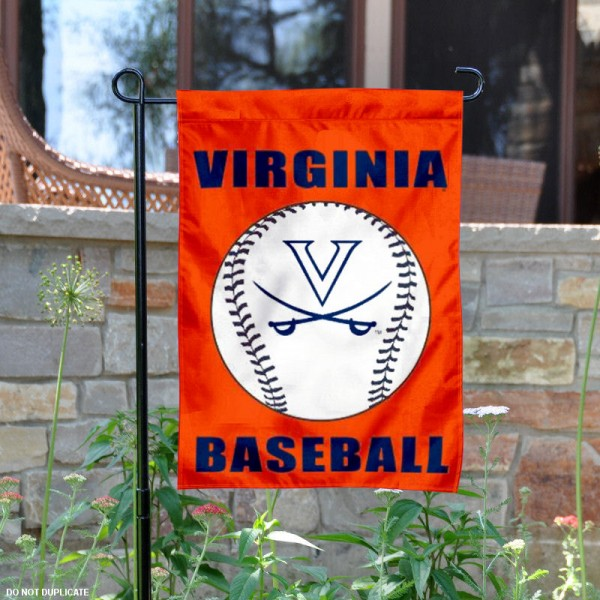 University of Virginia Baseball Garden Flag is 13x18 inches in size, is made of 2-layer polyester, screen printed University of Virginia Baseball athletic logos and lettering. Available with Express Shipping, Our University of Virginia Baseball Garden Flag is officially licensed and approved by University of Virginia Baseball and the NCAA.