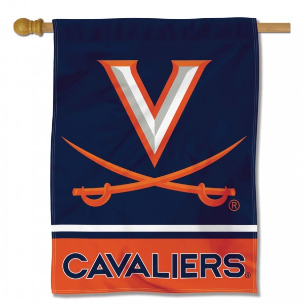 "University of Virginia Decorative Flag is constructed of polyester material, is a vertical house flag, measures 30""x40"", offers screen printed athletic insignias, and has a top pole sleeve to hang vertically. Our University of Virginia Decorative Flag is Officially Licensed by University of Virginia and NCAA."