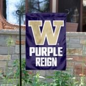 University of Washington Purple Reign Garden Flag