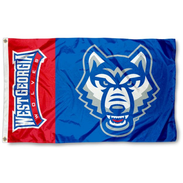 University of West Georgia 3x5 Flag is made of 100% nylon, offers quad stitched flyends, measures 3x5 feet, has two metal grommets, and is viewable from both side with the opposite side being a reverse image. Our University of West Georgia 3x5 Flag is officially licensed by the selected college and NCAA