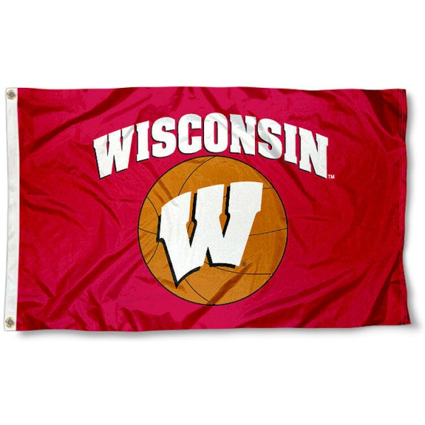 University of Wisconsin Basketball Flag measures 3'x5', is made of 100% poly, has quadruple stitched sewing, two metal grommets, and has double sided University of Wisconsin logos. Our University of Wisconsin Basketball Flag is officially licensed by the selected university and the NCAA