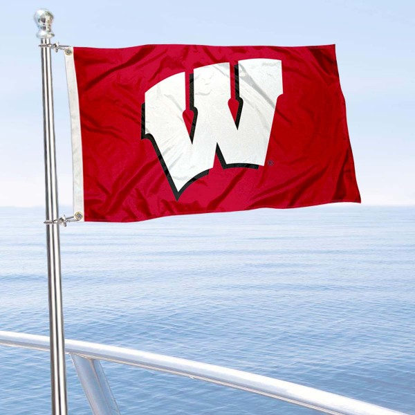University of Wisconsin Golf Cart Flag is a small 12x18 inches, made of 2-ply polyester with quad stitched flyends, and is double-sided. Our Golf Cart Logo Flags are Officially Licensed and Approved by Wisconsin Badgers and NCAA.