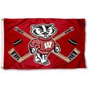 University of Wisconsin Hockey Flag