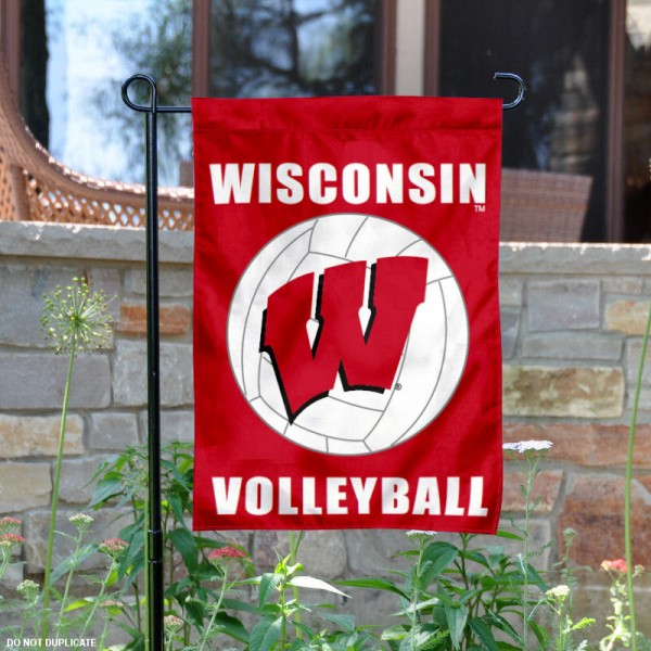 University of Wisconsin Volleyball Yard Flag is 13x18 inches in size, is made of 2-layer polyester, screen printed Wisconsin Badgers Volleyball athletic logos and lettering. Available with Same Day Express Shipping, Our University of Wisconsin Volleyball Yard Flag is officially licensed and approved by Wisconsin Badgers Volleyball and the NCAA.