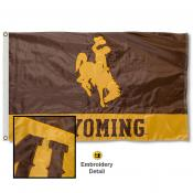 University of Wyoming Nylon Embroidered Flag