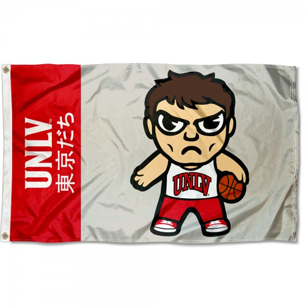 UNLV Runnin Rebels Kawaii Tokyo Dachi Yuru Kyara Flag measures 3x5 feet, is made of 100% polyester, offers quadruple stitched flyends, has two metal grommets, and offers screen printed NCAA team logos and insignias. Our UNLV Runnin Rebels Kawaii Tokyo Dachi Yuru Kyara Flag is officially licensed by the selected university and NCAA.