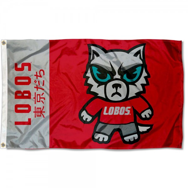 UNM Lobos Kawaii Tokyo Dachi Yuru Kyara Flag measures 3x5 feet, is made of 100% polyester, offers quadruple stitched flyends, has two metal grommets, and offers screen printed NCAA team logos and insignias. Our UNM Lobos Kawaii Tokyo Dachi Yuru Kyara Flag is officially licensed by the selected university and NCAA.