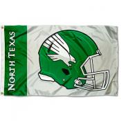 UNT Mean Green Football Helmet Flag