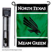 UNT Mean Green Garden Flag and Pole Stand Holder