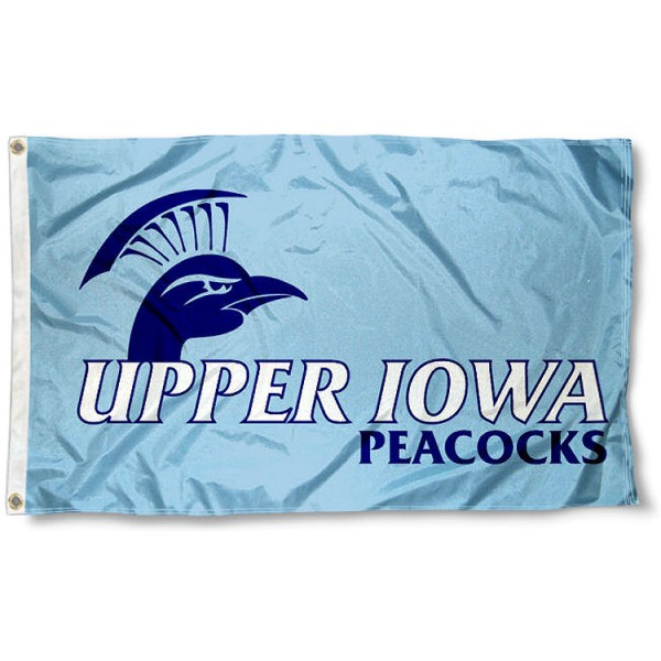 Upper Iowa Peacocks Flag measures 3'x5', is made of 100% poly, has quadruple stitched sewing, two metal grommets, and has double sided Team University logos. Our UIU Peacocks 3x5 Flag is officially licensed by the selected university and the NCAA.
