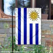 Uruguay Double Sided Garden Flag