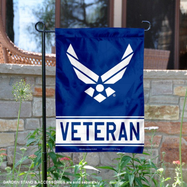 US Air Force Veteran Garden Flag is 12x18 inches in size, is made of 1-layer polyester, screen printed logos and lettering, and is viewable on both sides. Available same day shipping, our US Air Force Veteran Garden Flag is officially licensed and approved by the university and the NCAA.