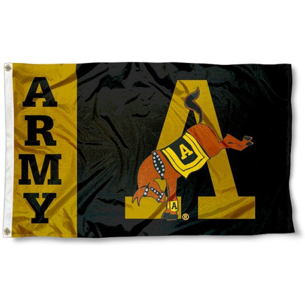 US Army Logo Flag measures 3'x5', is made of 100% poly, has quadruple stitched sewing, two metal grommets, and has double sided Team University logos. Our US Army Logo Flag is officially licensed by the selected university and the NCAA.