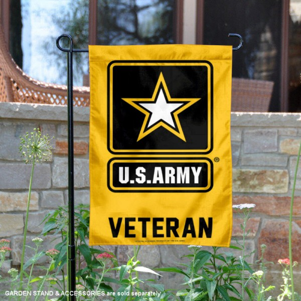 US Army Veteran Garden Flag is 12x18 inches in size, is made of 1-layer polyester, screen printed logos and lettering, and is viewable on both sides. Available same day shipping, our US Army Veteran Garden Flag is officially licensed and approved by the university and the NCAA.