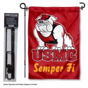 US Marines Corps Garden Flag and Stand