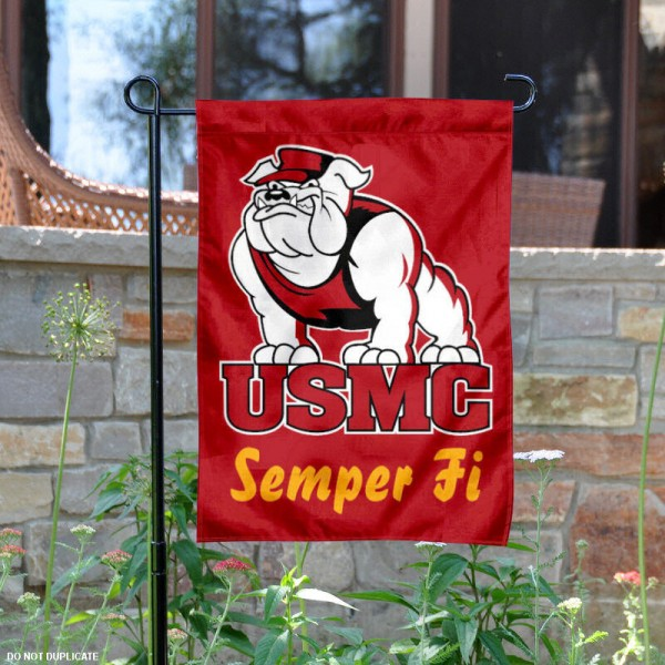 US Marines Garden Flag is 13x18 inches in size, is made of 2-layer polyester, screen printed US Marines athletic logos and lettering. Available with Same Day Express Shipping, Our US Marines Garden Flag is officially licensed and approved by US Marines and the NCAA.
