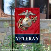 US Marines Veteran Garden Flag