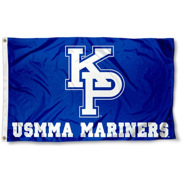 US Merchant Marine Mariners KP Logo Flag measures 3x5 feet, is made of 100% polyester, offers quadruple stitched flyends, has two metal grommets, and offers screen printed NCAA team logos and insignias. Our US Merchant Marine Mariners KP Logo Flag is officially licensed by the selected university and NCAA.