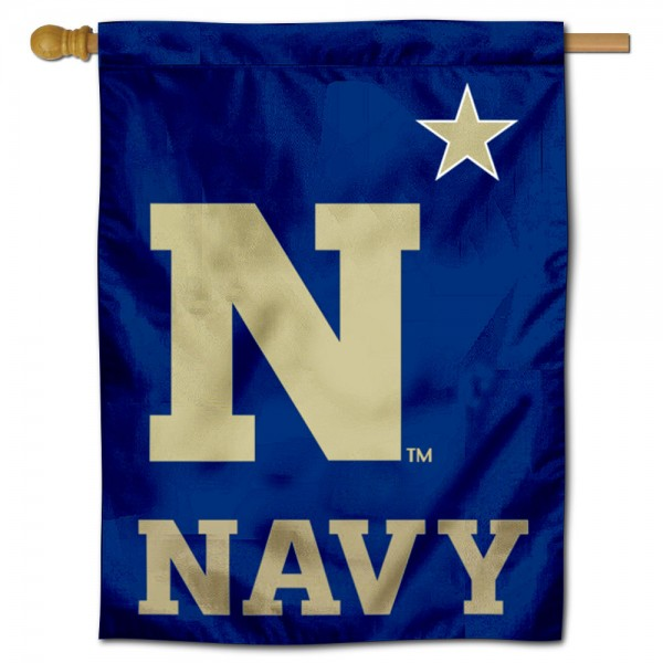US Navy Midshipmen Double Sided House Flag is a vertical house flag which measures 30x40 inches, is made of 2 ply 100% polyester, offers screen printed NCAA team insignias, and has a top pole sleeve to hang vertically. Our US Navy Midshipmen Double Sided House Flag is officially licensed by the selected university and the NCAA.