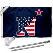 US Navy Midshipmen Flag Pole and Bracket Kit