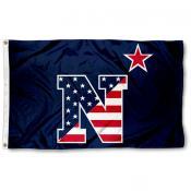 US Navy Patriotic Logo Flag