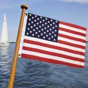 USA American Boat Golf Cart Flag