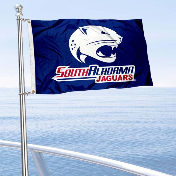 USA Jaguars Golf Cart Flag is a small 12x18 inches, made of 2-ply polyester with quad stitched flyends, and is double-sided. Our Golf Cart Logo Flags are Officially Licensed and Approved by University of South Alabama and NCAA.