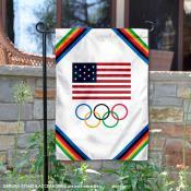 USA Olympics Rings Garden Flag