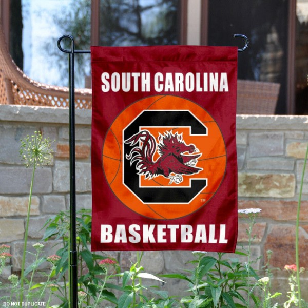 USC Gamecocks Basketball Garden Banner is 13x18 inches in size, is made of 2-layer polyester, screen printed athletic logos and lettering. Available with Same Day Express Shipping, Our USC Gamecocks Basketball Garden Banner is officially licensed and approved by the school and the NCAA.