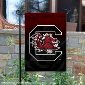USC Gamecocks Gradient Ombre Logo Garden Flag