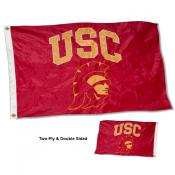 USC Trojan Head Double Sided Embroidered Flag