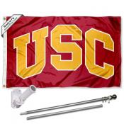USC Trojans Arch Flag Pole and Bracket Kit