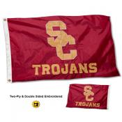 USC Trojans Double Sided Embroidered Flag