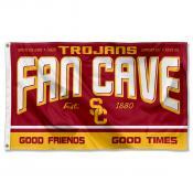 USC Trojans Fan Man Cave Game Room Banner Flag