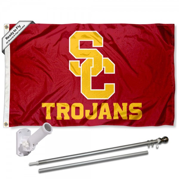 USC Trojans Flag Pole and Bracket Kit