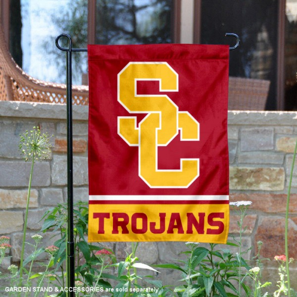 USC Trojans Garden Flag is 13x18 inches in size, is made of 2-layer polyester, screen printed logos and lettering. Available with Same Day Express Shipping, Our USC Trojans Garden Flag is officially licensed and approved by the NCAA.