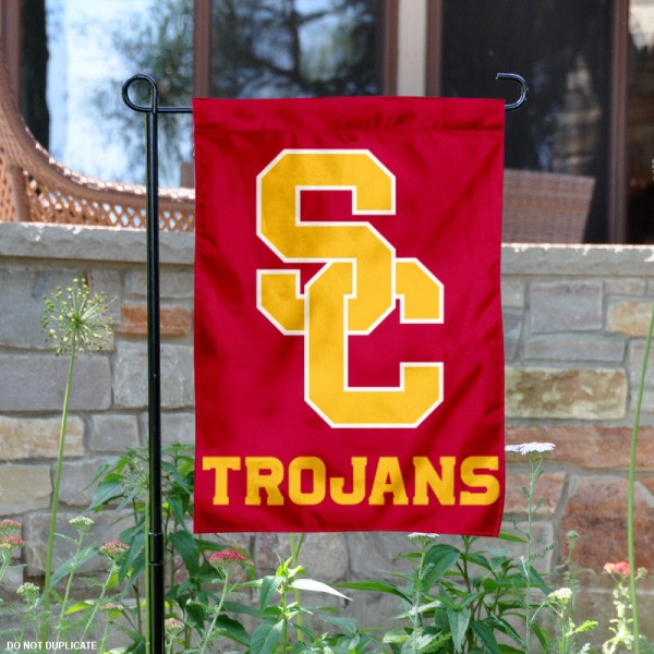 USC Trojans New SC Logo Garden Flag is 13x18 inches in size, is made of 2-layer polyester, screen printed logos and lettering. Available with Same Day Express Shipping, Our USC Trojans New SC Logo Garden Flag is officially licensed and approved by Panthers and the NCAA.