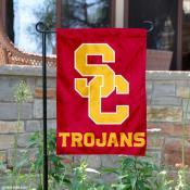 USC Trojans New SC Logo Garden Flag