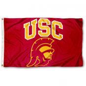 USC Trojans Trojan Head Logo Flag