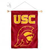 USC Trojans Trojan Head Logo Window and Wall Banner