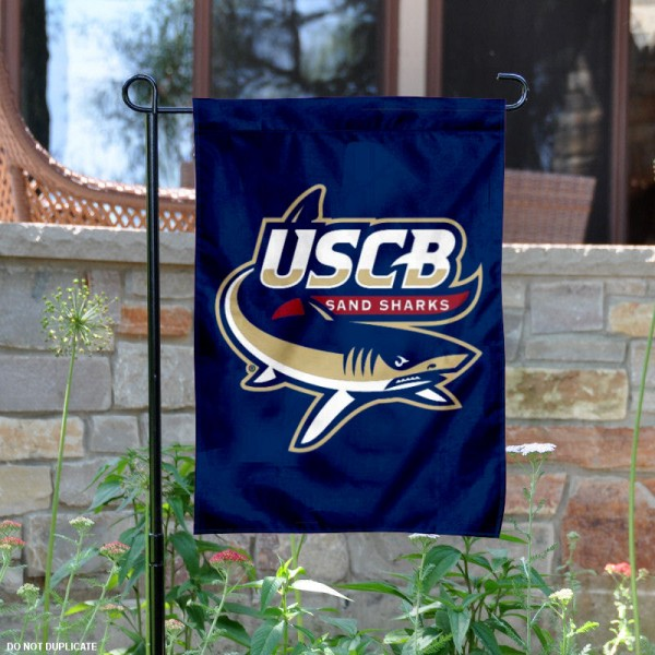 USCB Sand Sharks Garden Flag is 13x18 inches in size, is made of 2-layer polyester, screen printed university athletic logos and lettering. Available with Same Day Express Shipping, our USCB Sand Sharks Garden Flag is officially licensed and approved by the university and the NCAA.