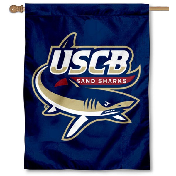 USCB Sand Sharks House Flag is a vertical house flag which measures 30x40 inches, is made of 2 ply 100% polyester, offers screen printed NCAA team insignias, and has a top pole sleeve to hang vertically. Our USCB Sand Sharks House Flag is officially licensed by the selected university and the NCAA.
