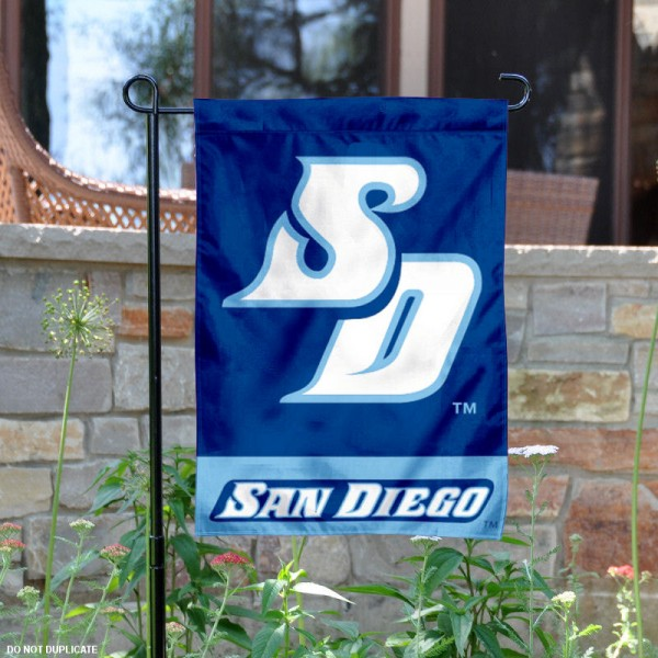 USD Toreros Garden Flag is 13x18 inches in size, is made of 2-layer polyester, screen printed USD Toreros athletic logos and lettering. Available with Same Day Express Shipping, Our USD Toreros Garden Flag is officially licensed and approved by USD Toreros and the NCAA.