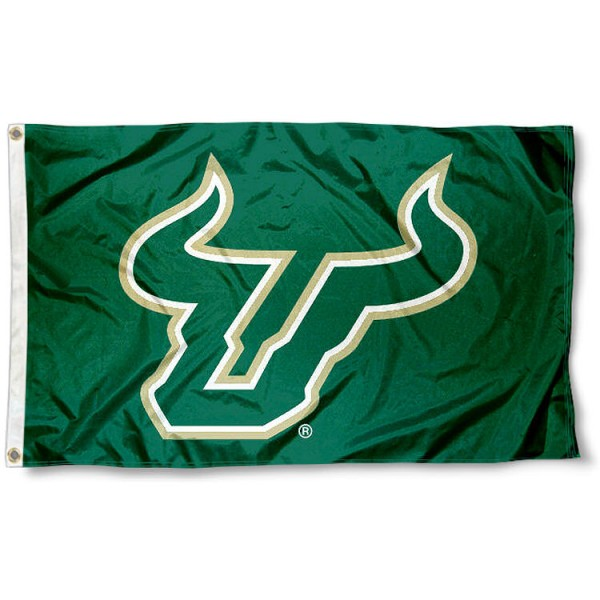 USF Bulls Horns Flag measures 3'x5', is made of 100% poly, has quadruple stitched sewing, two metal grommets, and has double sided University of South Florida logos. Our USF Bulls Horns Flag is officially licensed by the selected university and the NCAA