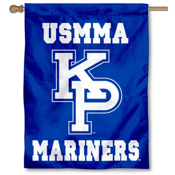 USMMA Mariners House Flag is a vertical house flag which measures 30x40 inches, is made of 2 ply 100% polyester, offers screen printed NCAA team insignias, and has a top pole sleeve to hang vertically. Our USMMA Mariners House Flag is officially licensed by the selected university and the NCAA.