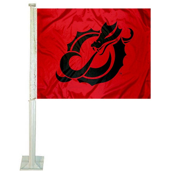 USUM Dragons Logo Car Flag measures 12x15 inches, is constructed of sturdy 2 ply polyester, and has screen printed school logos which are readable and viewable correctly on both sides. USUM Dragons Logo Car Flag is officially licensed by the NCAA and selected university.