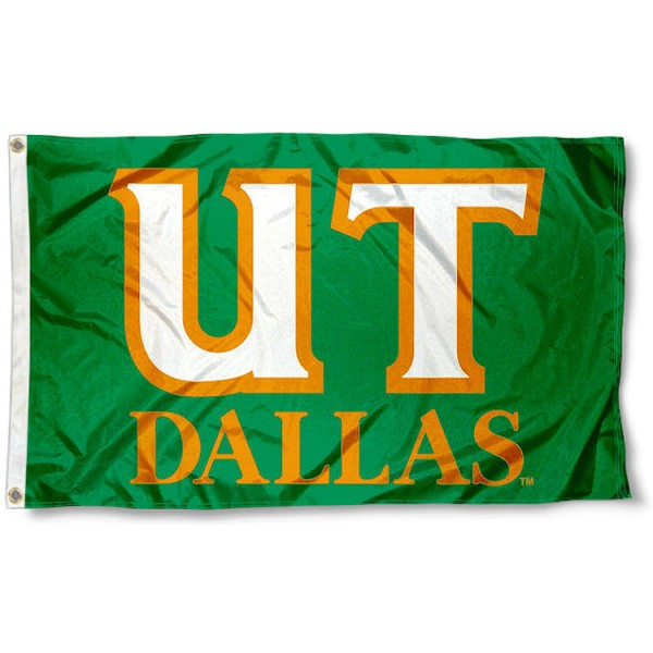 UT Dallas Comets UT Logo Flag measures 3x5 feet, is made of 100% polyester, offers quadruple stitched flyends, has two metal grommets, and offers screen printed NCAA team logos and insignias. Our UT Dallas Comets UT Logo Flag is officially licensed by the selected university and NCAA.