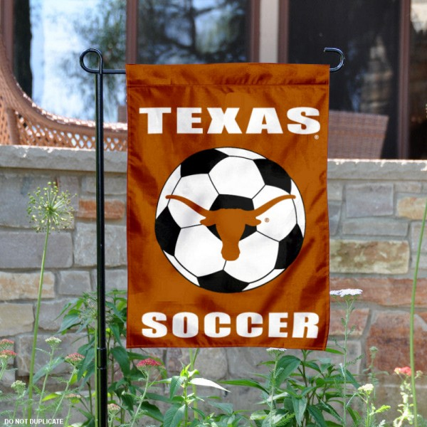 UT Longhorns Soccer Yard Flag is 13x18 inches in size, is made of 2-layer polyester, screen printed University of Texas Soccer athletic logos and lettering. Available with Same Day Express Shipping, Our UT Longhorns Soccer Yard Flag is officially licensed and approved by University of Texas Soccer and the NCAA.