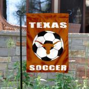 UT Longhorns Soccer Yard Flag